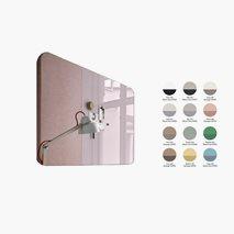 Skrivtavla Mood, glas vänster eller höger, ljudisolerad stomme, 12 färgkombinationer, 200 x 100 cm