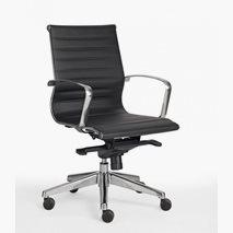 Kontorstol Sitio Deluxe Medium, lav rygg, svart eller hvit