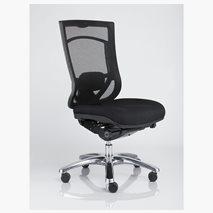 Kontorsstol Pro Net 6, högt ryggstöd, svart tyg
