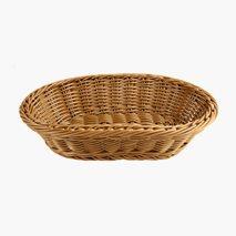 Brødkurv, brun, 29x18,5 cm, polypropylentråd