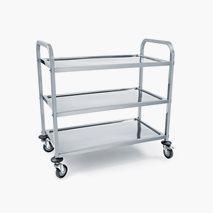 Serveringsvagn, rostfritt stål