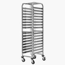 Stickvagn, GN, rostfritt stål