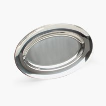 Serveringsfat 48X31 cm, oval, rustfritt stål