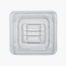 GN Lock 2.0 1/6, klar polykarbonat, transparent
