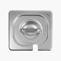 Lock 2.0, GN 1/6, uttag för ösa, rostfritt stål