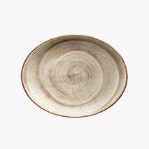 Tallerken Terrain, oval, 36X28 cm