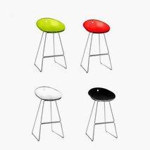Barstol Gliss, plast/krom, 4 farger, sittehøyde 65 cm