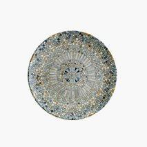Tallerken Mosaik, Ø19 cm, flat