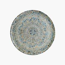 Tallerken Mosaik, Ø25 cm, flat
