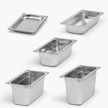 Kantine, GN 1/3, uten håndtak, rustfritt stål, flere størrelser