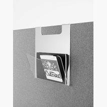 Postfack till skärm 30 eller 50 mm, transparent akryl, 250x300x120