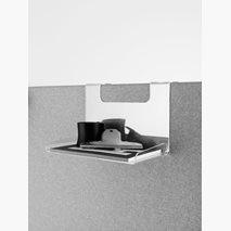 Hylle for skjerm 30 eller 50 mm, gjennomsiktig akryl, 250x170x205