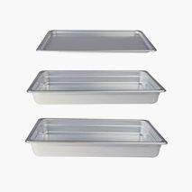 Kantin aluminium, utan handtag, flera storlekar