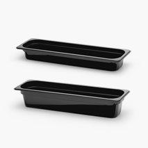 Kantine i polykarbonat, svart, 2 størrelser