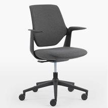 Kontorsstol Trillo Pro 21ST, grått tyg i sits och rygg, svart stomme, gungmekanism, svart hjul