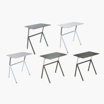 Hev- og senkbart skrivebord, krom/hvit, bordplate 96x62 cm, gassfjær, 75-119 cm, 5 farger