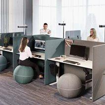 ScreenIT A30 Golvskärmsbås - byggbar två bord