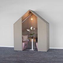 Half a Hut med frontskärm och kabelkanal - Ljudabsorberande rum