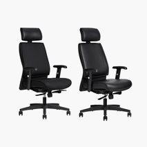 Kontorsstol AS6002, tekstil eller konstskinn