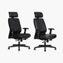 Kontorsstol AS6002, textil eller konstskinn