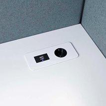 Bordplate Slank 1 el, 1 USB A, 1 USB C-lading