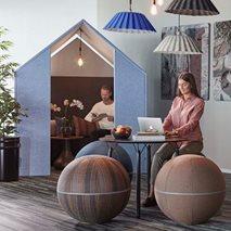 The Hut med frontskjermer- Lydabsorberende rom