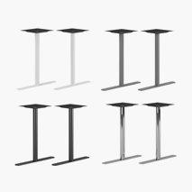 Pelarstativ Design S, 2 st, höjd: 72 cm, passar bordsskivor 120x70-140x90 cm, 4 färger