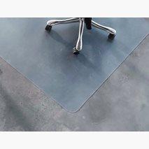Gulvbeskyttelse, standard, 100x120 cm, gjennomsiktig, for harde og myke gulv