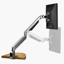 Skjermarm for 1 skjerm, 2-10 kg, 360 ° rotasjon, 185 ° helling, sølv