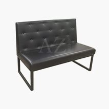 Restaurant sofa, glidebryter, lengde 120 cm, valgfri farge av kunstlær, setehøyde: 47 cm