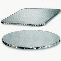 Bordplate rustfri, 6 størrelser, til innemiljø og utemiljø