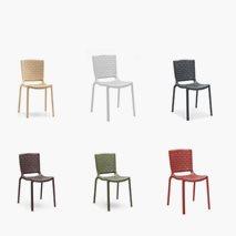 Stol Tatami, 6 farger, plast, stablebar