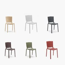 Stol Tatami, 6 färger, plast, stapelbar