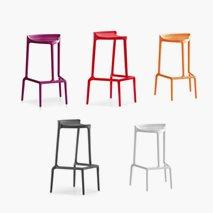 Barpall Happy, to sittehøyder, 5 farger