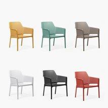 Loungestol Net Relax sitthöjd 41,5 cm, 6 färger, plast, stapelbar
