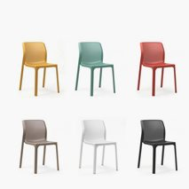 Stol Net Bit, 6 färger, stapelbar, utemiljö