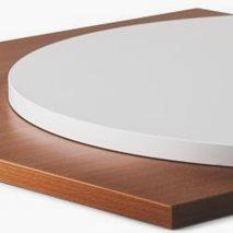 Bordplate laminat ABS 20, 9 størrelser, for innemiljø