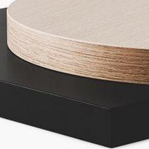 Bordsskiva i laminat ABS50, 8 storlekar, för innemiljö