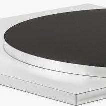 Bordplate i laminat ABS20K, 9 størrelser, for innemiljø
