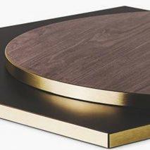 Bordplate laminat ABS20M, 9 størrelser, for innemiljø