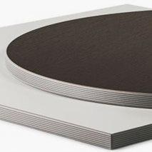 Bordsskiva i laminat ABS20R, 8 storlekar, för innemiljö