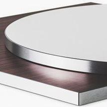 Bordsskiva i laminat ABS24B, 8 storlekar, för innemiljö