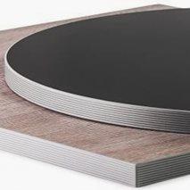 Bordplate laminat Abs24R, 9 størrelser, for innemiljø