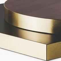 Bordplate i laminat ABS50M, 8 størrelser, for innemiljø