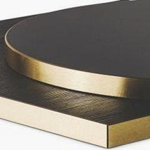 Bordplate i laminat ABS30M, 8 størrelser, for innemiljø