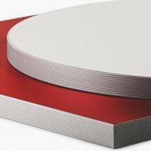 Bordsskiva i laminat ABS 30R, 8 storlekar, för innemiljö