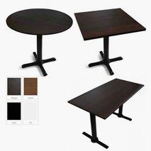 Lia komplett restaurantbord, 7 størrelser, 4 farger bordplate