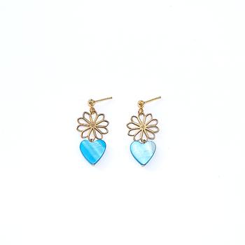 Heart Flower Earrings