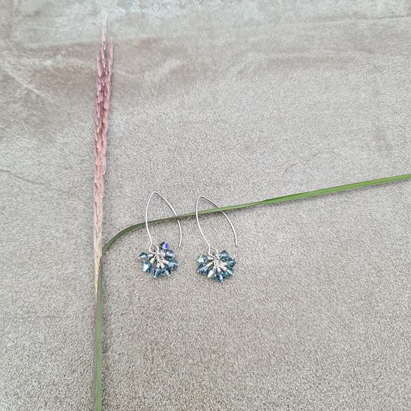 Earrings Blue Poppy Sapphire