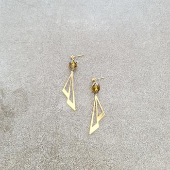 Art Deco Earrings Upcycled
